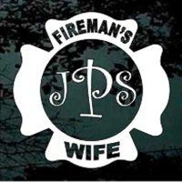 Fireman's Wife Monogram