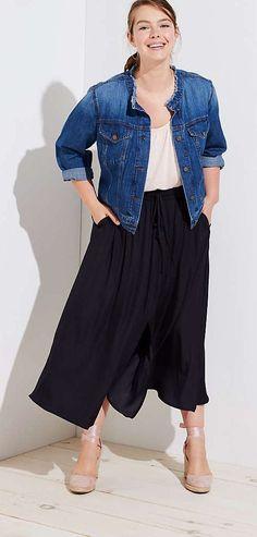 Plus Size Maxi Skirt - Plus Size Fashion for Women #plussize