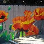 Poolside Poppy Mural.      For more great pins go to @KaseyBelleFox