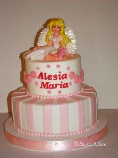 Tort de botez pentru Alesia-Maria | Cadoul Tau Dulce Cake, Desserts, Food, Pie Cake, Tailgate Desserts, Pie, Deserts, Cakes, Essen