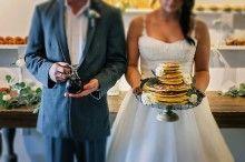 Blueberry pancake wedding cake  | K&S Snapshots | see more on: http://burnettsboards.com/2015/03/sunday-kind-love-brunch-wedding-editorial/