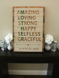 Reclaimed Wood Mother Sign by WTGDesigns on Etsy perfect Mother's Day gift DIY project