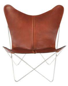 OxDenmarq Armchair Trifolium - Stainless Steel Frame - Leather - Cognac |  https://designonline24.nl