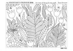 Colour In Emma Farrarons Floral Printable