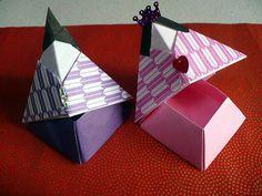 おひなさまBOX: おりがみやさん もっと見る Kids Origami, Origami Paper, Origami Boxes, Origami Box Tutorial, Hina Matsuri, Hina Dolls, Diy And Crafts, Paper Crafts, Modular Origami