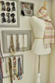 accessories wall....This is a good idea for your bedroom.