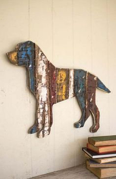 Canine Companion Wall Hanging in Reclaimed Wood