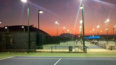 Endless night of tennis ahead.