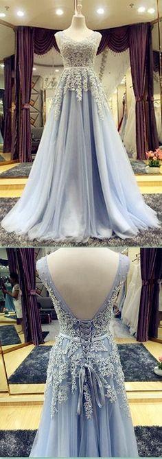 Beautiful Prom Dresses V-neck Lace-up Floor-length Chic Prom Dress/Evening Dress JKL271