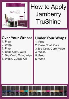 How to use TrūShine Gel with or without wraps! christaculbertson.jamberry.com