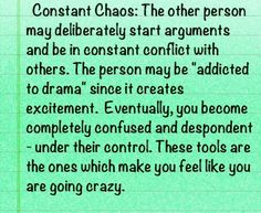 Chaotic & psychotic narcissists
