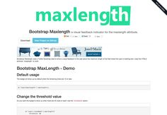 Boostrap Maxlength - Via http://www.themangomedia.com/blog/the-quintessential-guide-to-bootstrap-and-its-pros/ @teammangomedia