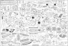 Incredibly Detailed Diagram Shows an Exploded View of Nikon's Iconic Camera - Robbin Schröder - Wallpapers Designs Model Sailing Ships, Model Ships, Model Ship Building, Boat Building, Old Cameras, Vintage Cameras, Bateau Peche Promenade, Nikon F3, Exploded View