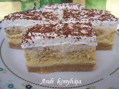 Gesztenyés - babapiskótás szelet - Andi konyhája - Sütemény és ételreceptek képekkel