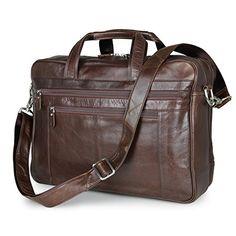 Men Briefcase Mens Office Laptop Messenger Bag Lawyers Briefcase Business Slim Shoulder Cross-Body Bags for Business Work College School