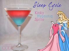 """Sleep Cycle"" - kinky, hypnotiq and sprite Cocktails by Cody Disney Cocktails, Cocktail Disney, Disney Themed Drinks, Disney Mixed Drinks, Disney Dinner, Party Drinks, Cocktail Drinks, Cocktail Recipes, Drink Recipes"