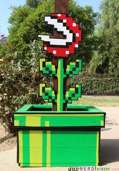 DIY Super Mario 3 piranha plant!