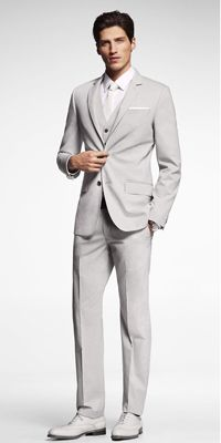 New England Spring/Summer Wedding Groom Suit. Pinstripes! Jay would look AMAZING in this! #PB