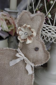 Kimberly's DIY on a budget: Simple Burlap Bunny