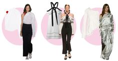 From left to right: Jacquemus, Proenza Schouler, Monse. Photos: Albert Urso/Getty Images (left), Imaxtree