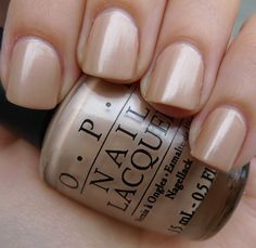 LOVE, LOVE, LOVE this shimmery neutral. OPI- Sand in my Suit. After a beach volleyball day it's only right that my nails match the rest of me. Nail Swag, Mani Pedi, Gel Manicure, Manicures, Hair And Nails, My Nails, Nails Inc, Nagel Hacks, Drop Dead Gorgeous