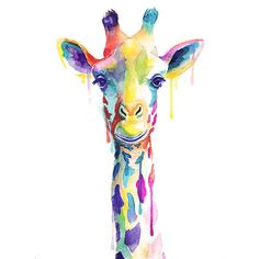 Colorful Giraffe Watercolor Print (€12) ❤ liked on Polyvore featuring home, home decor, wall art, filler, backgrounds, colorful home decor, colorful wall art, animal wall art, giraffe wall art and giraffe home decor