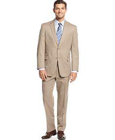 Tommy Hilfiger Tan Pindot Suit