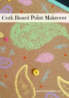 Stenciled Cork Memo Board | TodaysCreativeblog.net