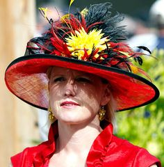 Lady in Red!  No not a Red Hatter, but Kentucky Derby fan!  Dramatic with a splash of yellow!