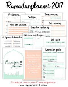 Happy Organized Home heeft ook dit jaar voor de maand Ramadan een Ramadanplanner.