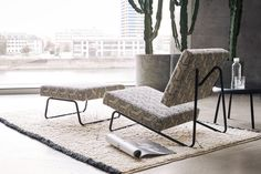 The Lounge Chair by Herbert Hirche from Richard Lampert. Designers Guild, Rattan Furniture, Home Furniture, Contemporary Style, Modern, Wassily Chair, Elegante Designs, Stoff Design, Lounge Chair Design