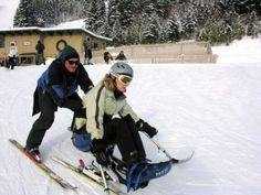 DREAM Skier with Disabilities Gets Help from a Volunteer Adaptive Sports, Big Sky Country, Disability, Skiing, Ski