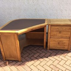 awesome rustic lacquered oak corner desk paired with file drawers cabinet with wood desks and home