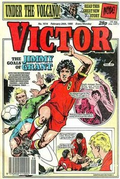 The Victor with Jimmy Grant as Cover star. When football was a great seller for comics.