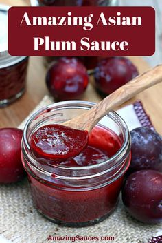 Plum sauce is very typical Asian dipping sauce or cooking sauce that feature a very common taste profile in Asian cooking of sweet and sour or sweet and spicy which ever term you prefer.