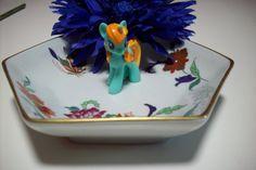 Decorative Porcelain Tray/ Vista Alegre Portugal/ trinket tray/ jewelry organization/ butterfly and floral design/ tvat v2 ppt svfteam by UpcycledCottageDecor on Etsy