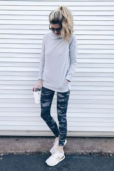 46 Cute Sporty Outfits Ideas Try This Fall Cute Sporty Outfits, Cute Workout Outfits, Hipster Outfits, Casual Winter Outfits, Sport Outfits, Stylish Outfits, Outfit Winter, Cute Athletic Outfits, Outfit Summer