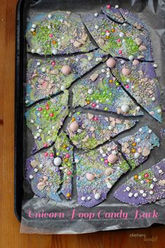 Unicorn Poop Candy Bark is a fun and colorful way to make your own candy. You can mix and match the colors to coordinated with your party colors. Rainbow Birthday, 21st Birthday, Birthday Parties, Unicorn Princess, Candy Bark, Candy Sprinkles, Party Mix, Best Candy, Chocolate Bark