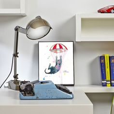 Parachute Cat Mounted Print - alt_image_two