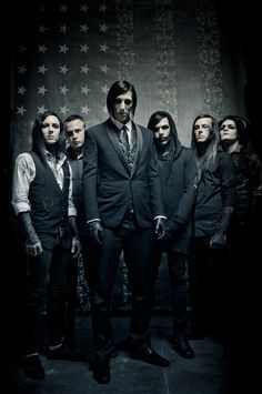 Motionless In White...dear god look at Chris being all dark and mysterious and totally adorable