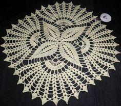 Crochet Doily Diagram, Vintage Crochet Patterns, Crochet Braids, Thread Crochet, Crochet Stitches, Crochet Home, Free Crochet, Crochet Dollies, Crochet Tablecloth