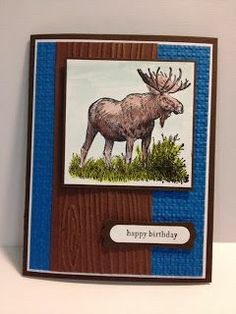 Wetlands Masculine Birthday Card Stampin' Up! Rubber Stamping Handmade Cards