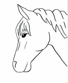 horse outlines to trace | Horse Drawings To Trace Horses