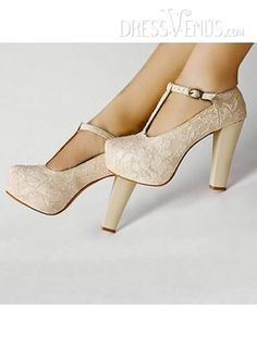 Hot Sale Apricot  Mesh Upper Round Toe Platform Chunky Heels, #Shoes Zone  #Prom Shoes  #MarketPricde $49.00  But now Only #$20.69