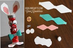 RED FRED!!! So cute for an Easter Treat Tube! Uses CTMH Cricut Artiste Cartridge Collection!