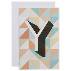 Alphabet range card - letter Y