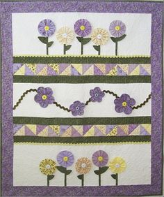 little girl quilt patterns | ... little girl wouldn't love to pick some of these pretty little flowers