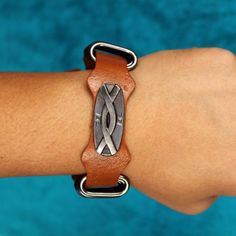 Redeem this Stunning Tan Leather Wristband  for FREE only on LooksGud.in #LooksGudReward #MenWristband