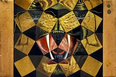"Salvador Dali ""Study for Fifty Abstract Paintings which as seen from two yards, change into three Lenins masquerading as Chinese and as seen from six yards, appear as the head of a Royal Bengal Tiger"" 1962 Oil & gouache on cardboard"