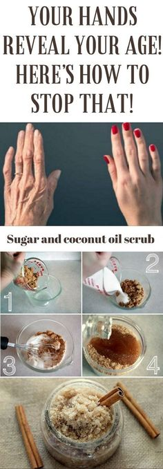 YOUR HANDS REVEAL YOUR AGE! HERE'S HOW TO STOP THAT! #sugar #hands